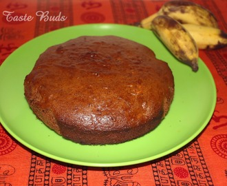Eggless Banana Dates Cake