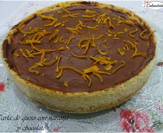 TARTA DE QUESO CON NARANJA Y CHOCOLATE
