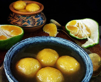 Komolabhog or Orange Flavoured Rasgulla(No artificial colour added)