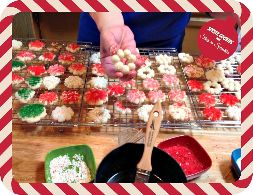 Spritz Cookies with Stay-on Sprinkles – Friday Flashback  #  51