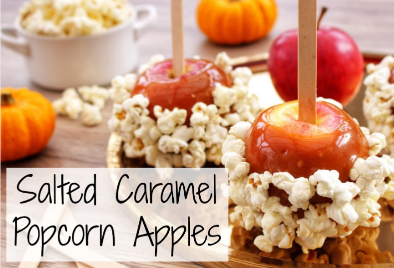 Salted Caramel Popcorn Apples - Perfect for Bonfire night!
