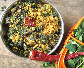 munagaku telagapindi fry / moringa leaves recipes / murungai keerai recipes /