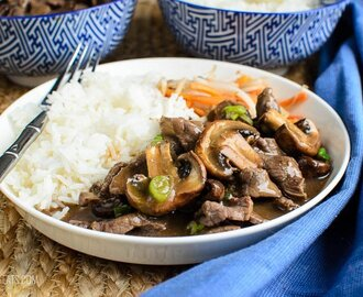 Low Syn Beef with Mushrooms in Oyster Sauce