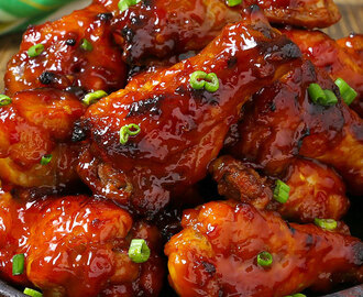 Slow Cooker Sweet and Spicy Barbecue Wings (With Video and Giveaway)