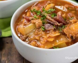 Crock Pot Cabbage Roll Soup