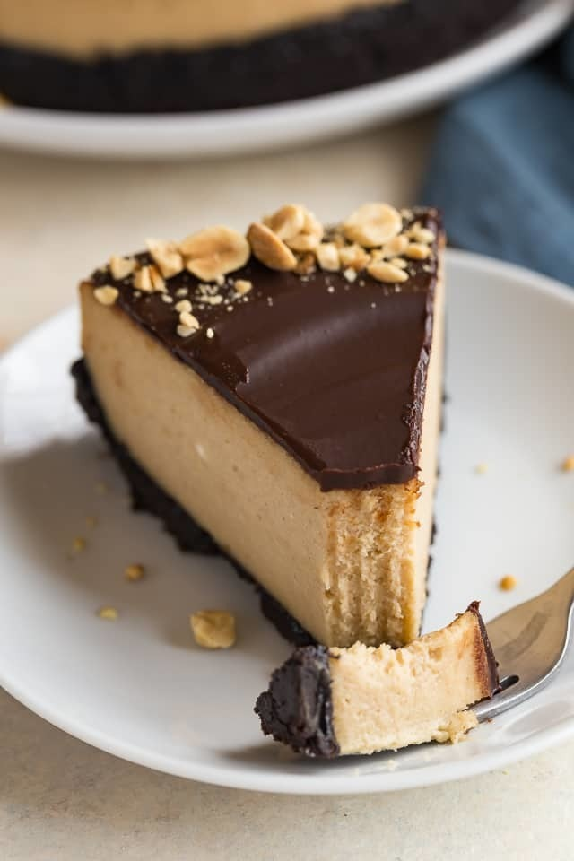 Chocolate Peanut Butter Cheesecake | Baked by an Introvert