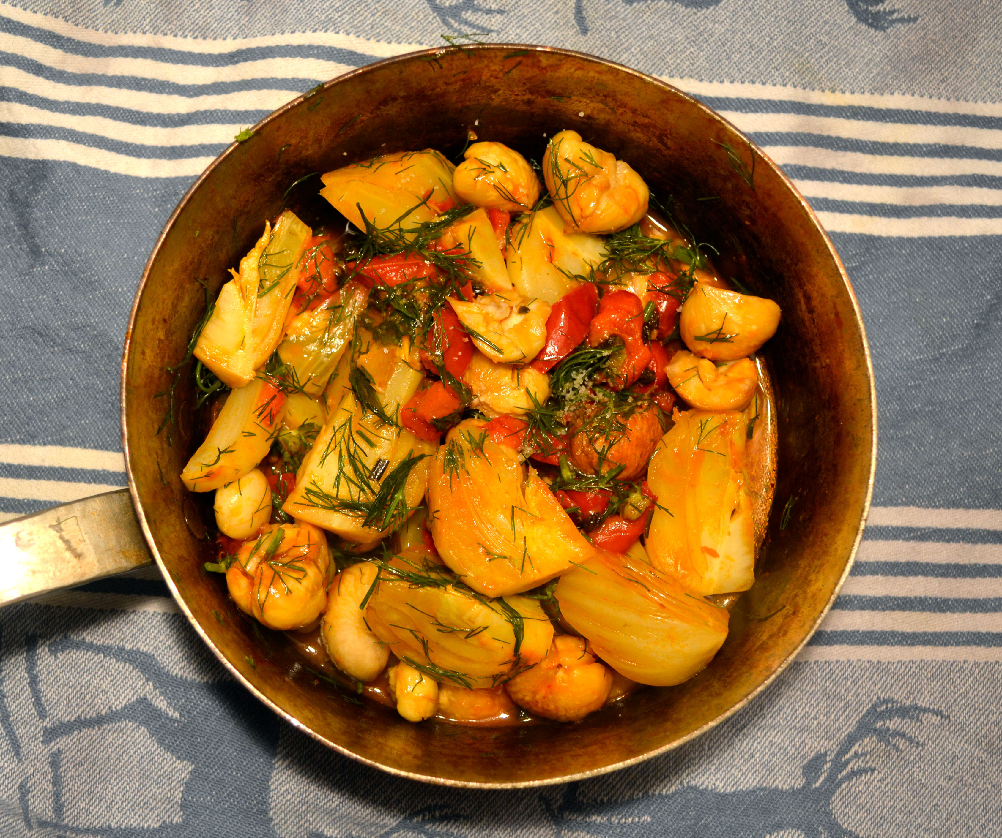 Fenchel in Paprika Sauce mit Maroni