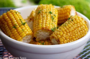 Clean Eating Oven Roasted Corn Cobs