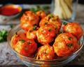 Blue Cheese Stuffed Meatballs, Classic or Buffalo Flavor Meatballs