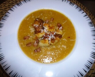 Roasted Squash and Swede Soup with Bacon Bit's and Parmesan Crouton's Recipe – spaulyseasonalservings