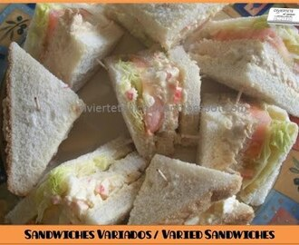 Receta de Mini Sandwich Variados / Varied mini sandwiches
