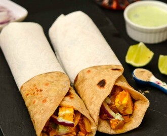 Paneer Kathi Roll Recipe | Easy Paneer Roll Recipe