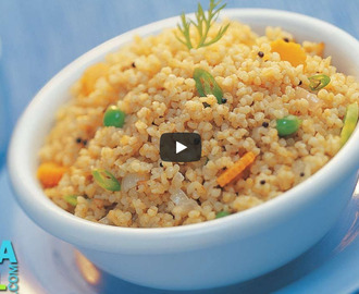 Broken Wheat Upma Recipe Video