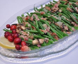 Sauteed French Green Beans with Shallots and Bacon