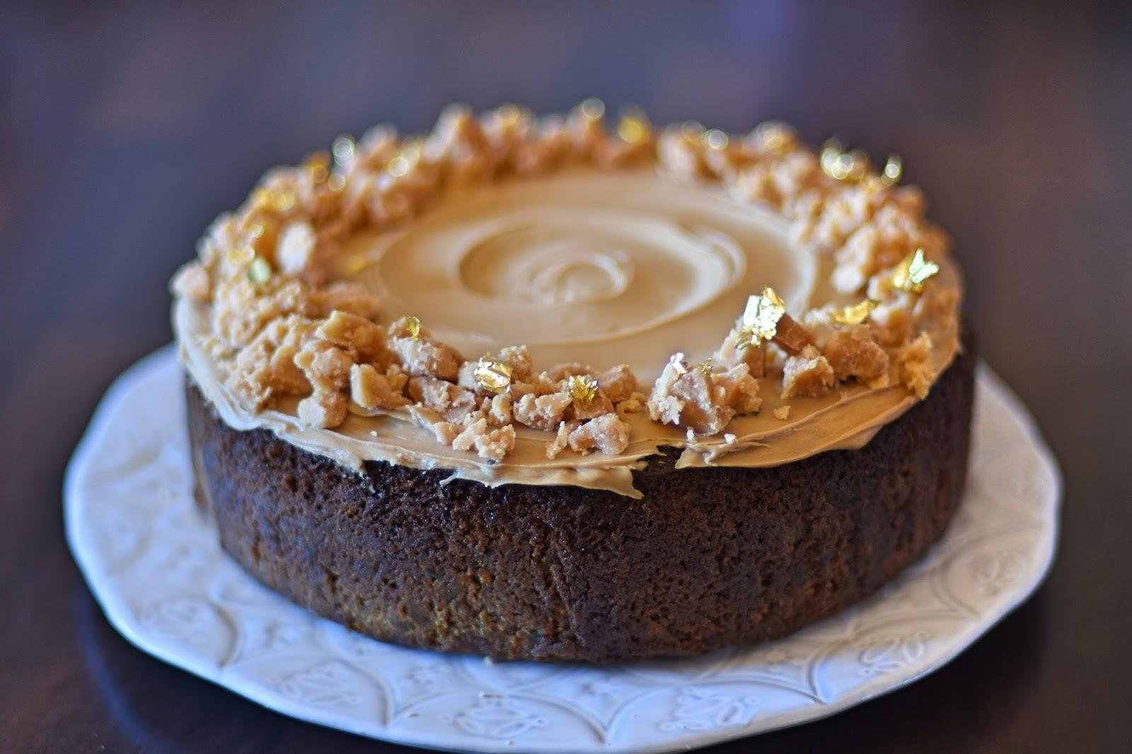 Sticky Ginger Cake with Coffee Frosting