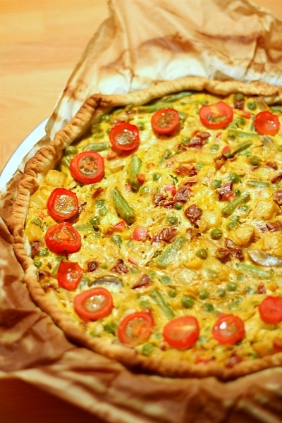 Pittige vegan quiche