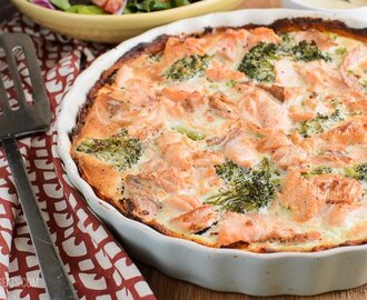 Salmon and Broccoli Quiche