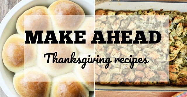 Make Ahead Thanksgiving Side Dishes