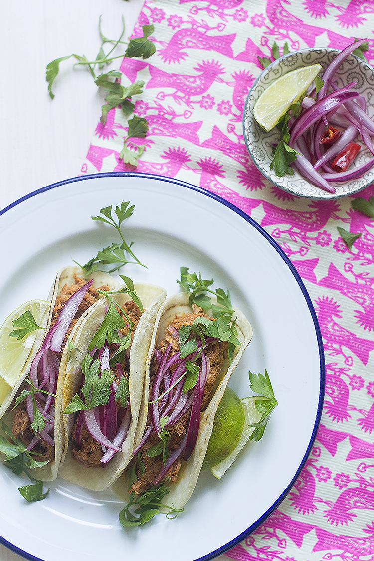 Tacos de cochinita pibil en slow cooker Crock-pot