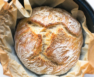 Luchtig no knead brood