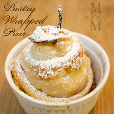 Pastry wrapped pears (get your chef on).