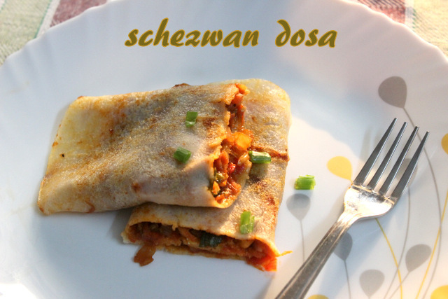 Schezwan dosa recipe – How to make schezwan dosa recipe – dosa recipes