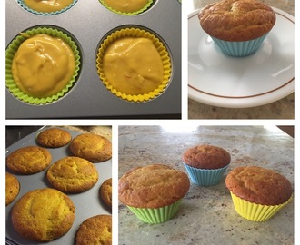 Eggless Mango Saffron Muffins with Pistachios
