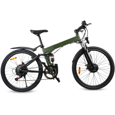 "Elcykel Mountainbike 27.5"" L5 Raptor 2018 - Army green"