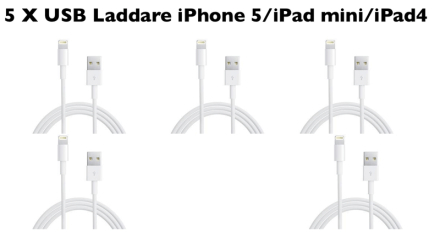 5 x usb laddare iphone 6 plus/6 iphone 5s/5c/5 ipad mini/ipa