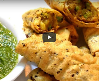 Papad Roll Recipe Video