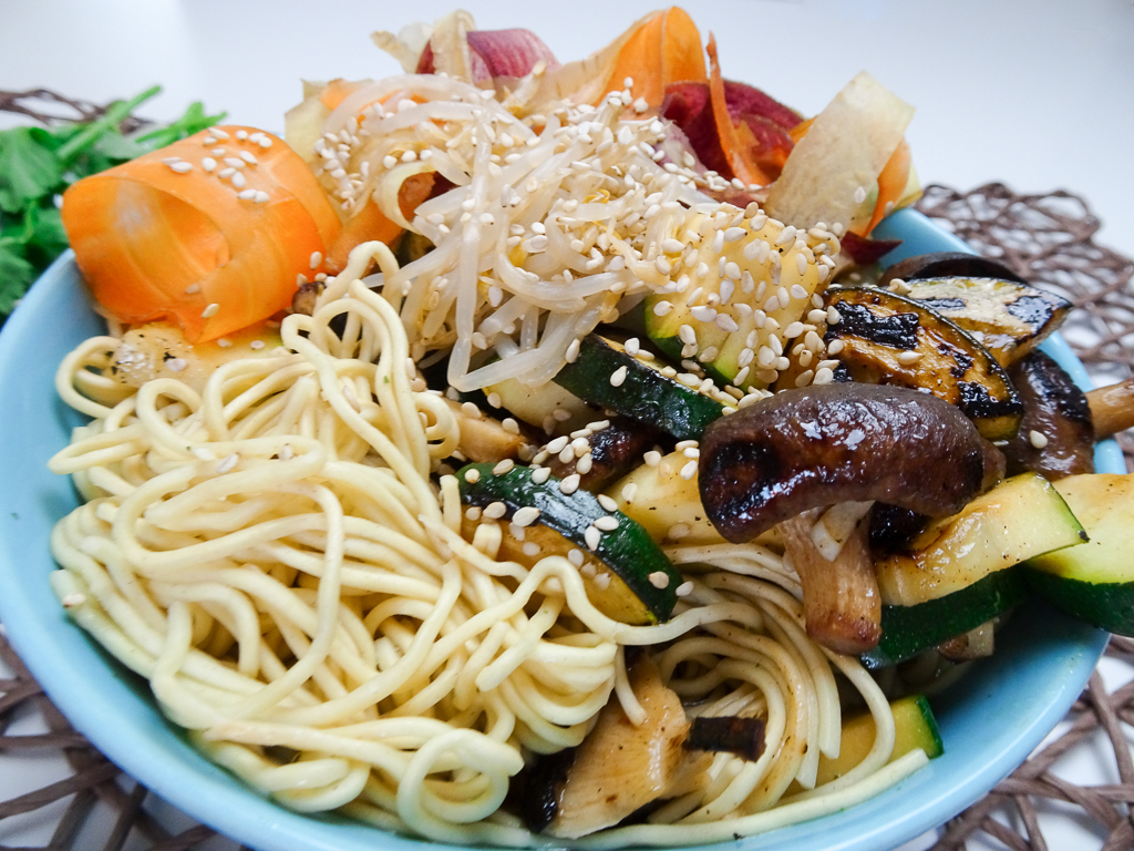 Warm Noodle Bowl Asian-style