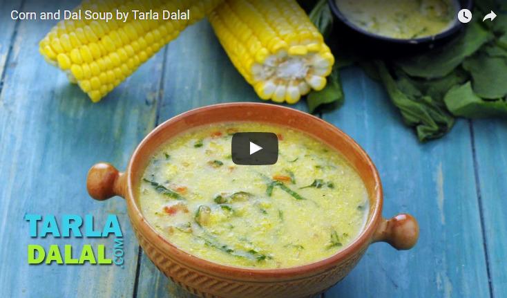 Corn and Dal Soup Recipe Video