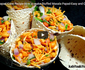 Stuffed Masala Papad Recipe Video