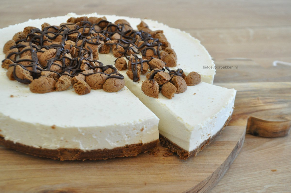 No bake kruidnoten cheesecake