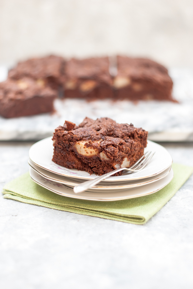 Rich Chocolate and Pear Cake