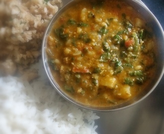 Sai Bhaji/Sindhi Sai Bhaji/Green Leafy Vegetables with  Dal