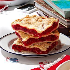 Raspberry Pie Squares Recipe