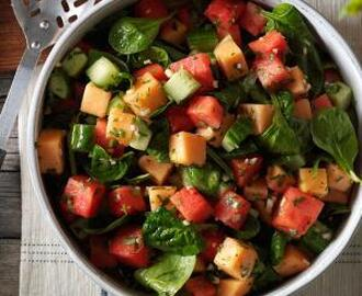 Watermelon & Spinach Salad Recipe