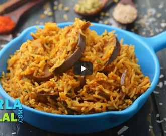 Vangi Bhath Recipe Video