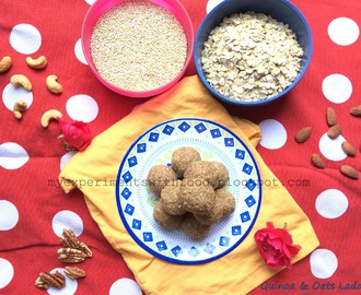 Quinoa & Oats Laddu- A healthy and nutritious snack...