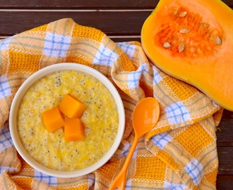 Pumpkin Chia Coconut Milk Porridge
