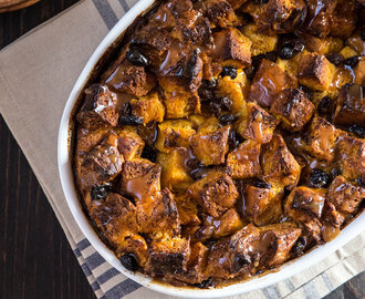 Pumpkin Caramel Bread Pudding