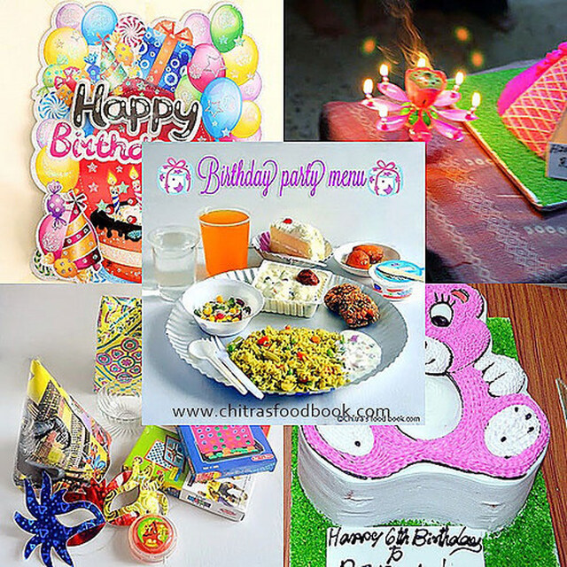 Kids Birthday Party Menu List Indian – Party Food Items List
