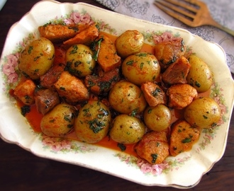 Fried pork with potatoes | Food From Portugal