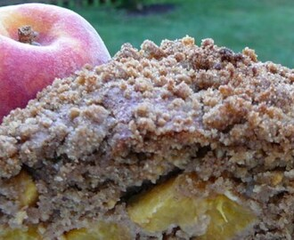 Avon's End of Summer Sunday Morning Peach Coffee Cake