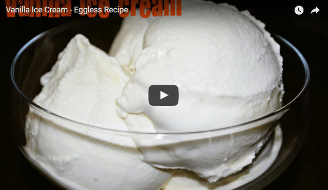 Vanilla Ice Cream Recipe Video