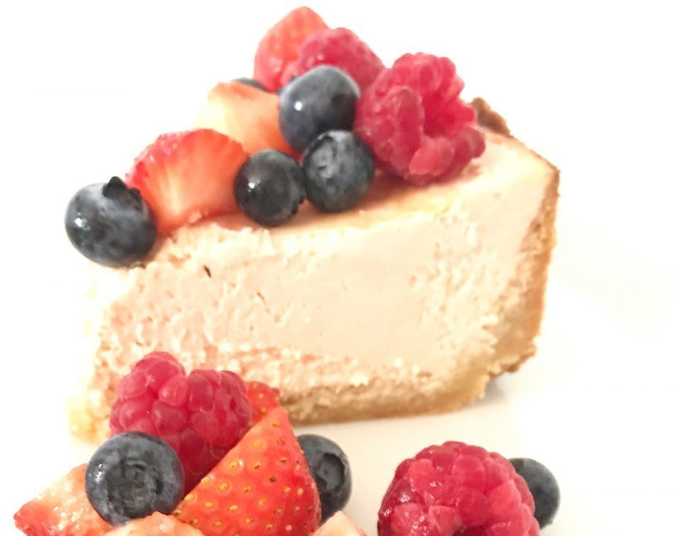 Recept: Koolhydraatarme cheesecake met rood fruit