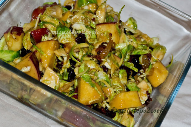 Brussels Sprout Salad with Apple and Cranberry