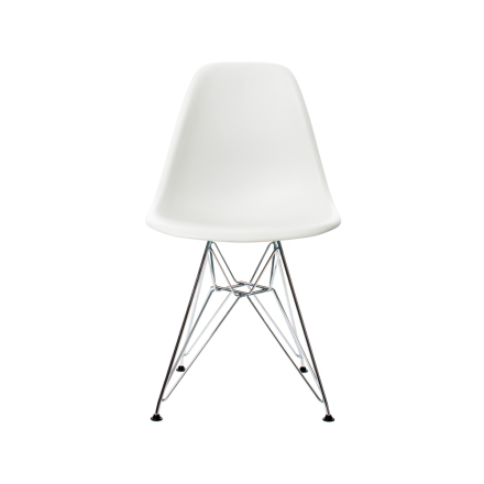 Eames Plastic Side Chair DSR stol - white