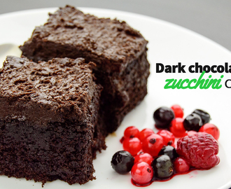 Dark chocolate zucchini cake - My Zucchini Recipes